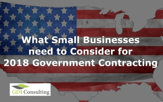 What Small Businesses need to Consider for 2018 Government Contracting
