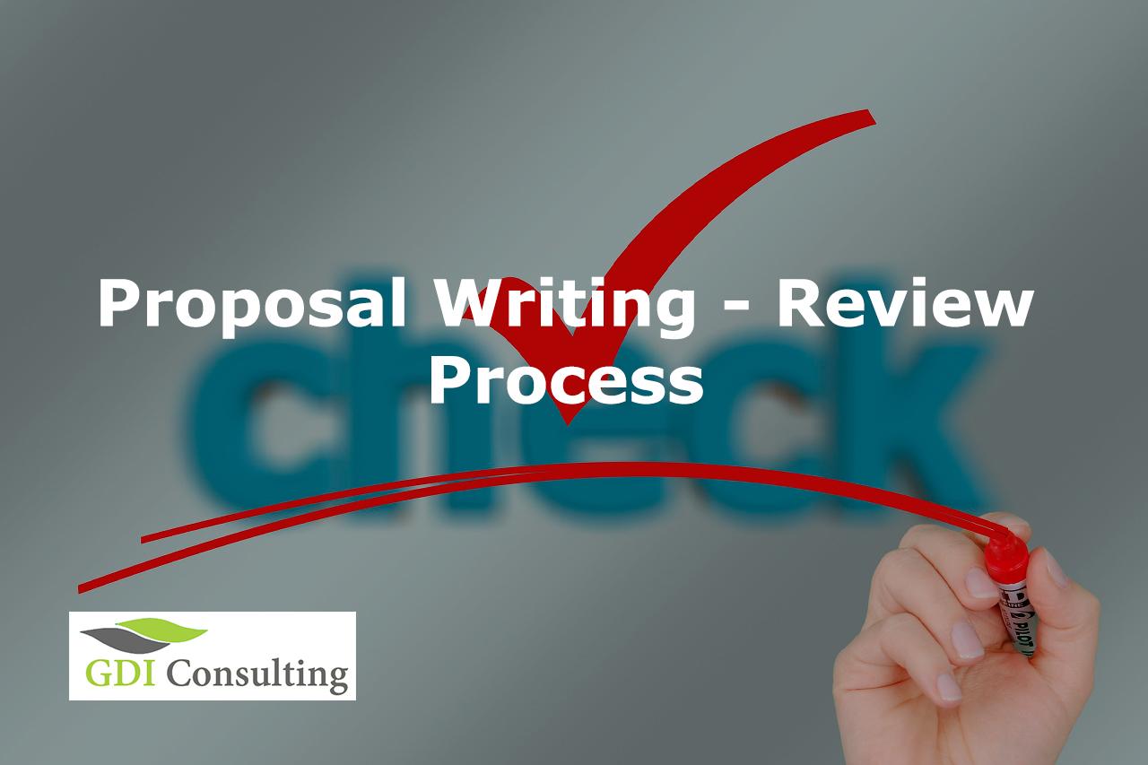 Proposal Writing - Review process