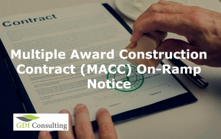 Multiple Award Construction Contract (MACC) On-Ramp Notice