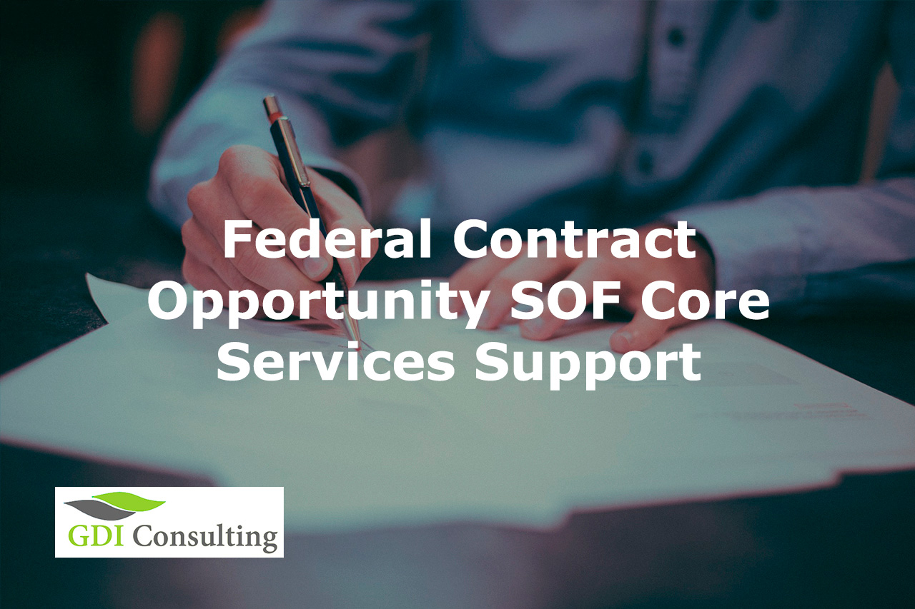 Federal Contract Opportunity SOF Core Services Support - Proposal