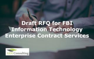 FBI Information Technology Enterprise Contract Services