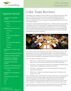 GDIC Color Team Review Brochure